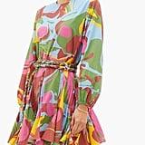 Rhode Ella Marbled-Print Cotton Mini Dress