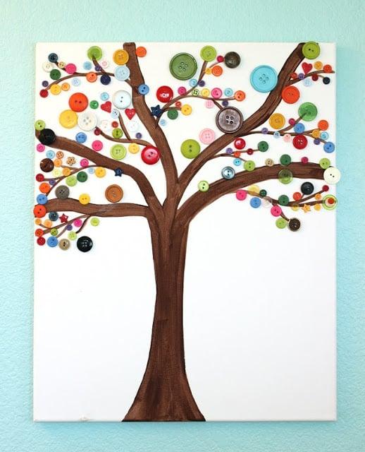 Canvas Button Art