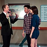 Neil Patrick Harris as Barney, Josh Radnor as Ted, and Cobie Smulders as Robin on How I Met Your Mother. Photo courtesy of CBS