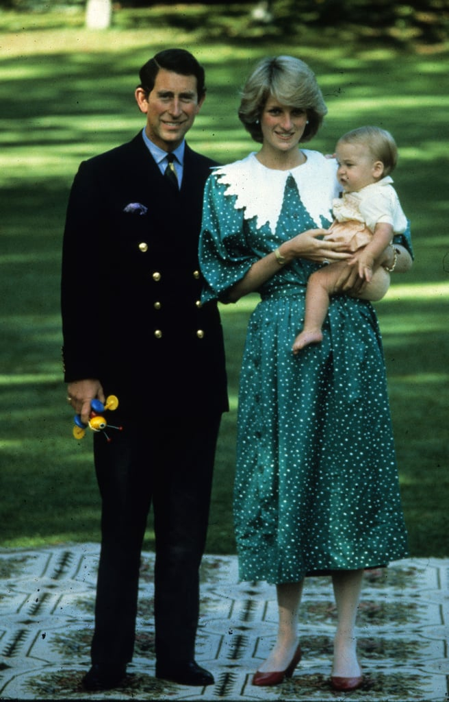 In another snap from the photo shoot, Prince Charles can be seen holding the bug to his side.