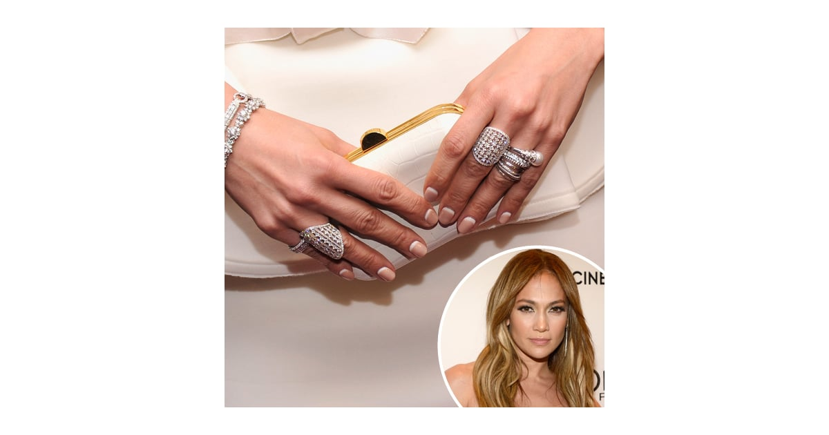 Jennifer Lopez\'s Nail Art | Reverse French Manicure | POPSUGAR Beauty