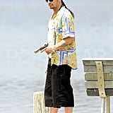 James Franco worked on the Spring Breakers set.