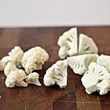 Trim the Cauliflower Florets Into Equal-Sized Pieces