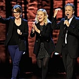 Tina Fey, Amy Poehler and Jon Stewart appeared on stage to support autism research in NYC.