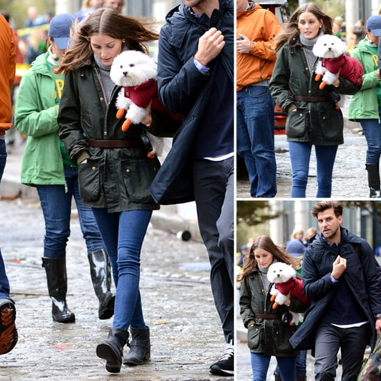 Olivia Palermo Walking in NYC During Hurricane Sandy