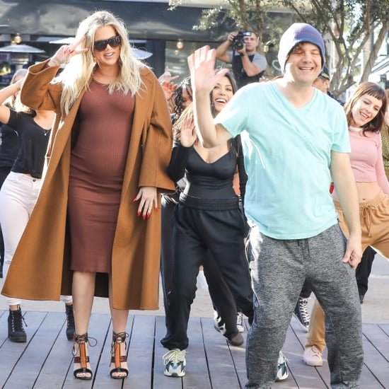 Kim, Kourtney, and Khloe Kardashian Flash Mob Pictures 2018