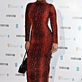 Maya Jama at the Vanity Fair EE Rising Star BAFTAs Preparty