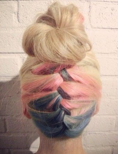 Multicolored Braided Bun