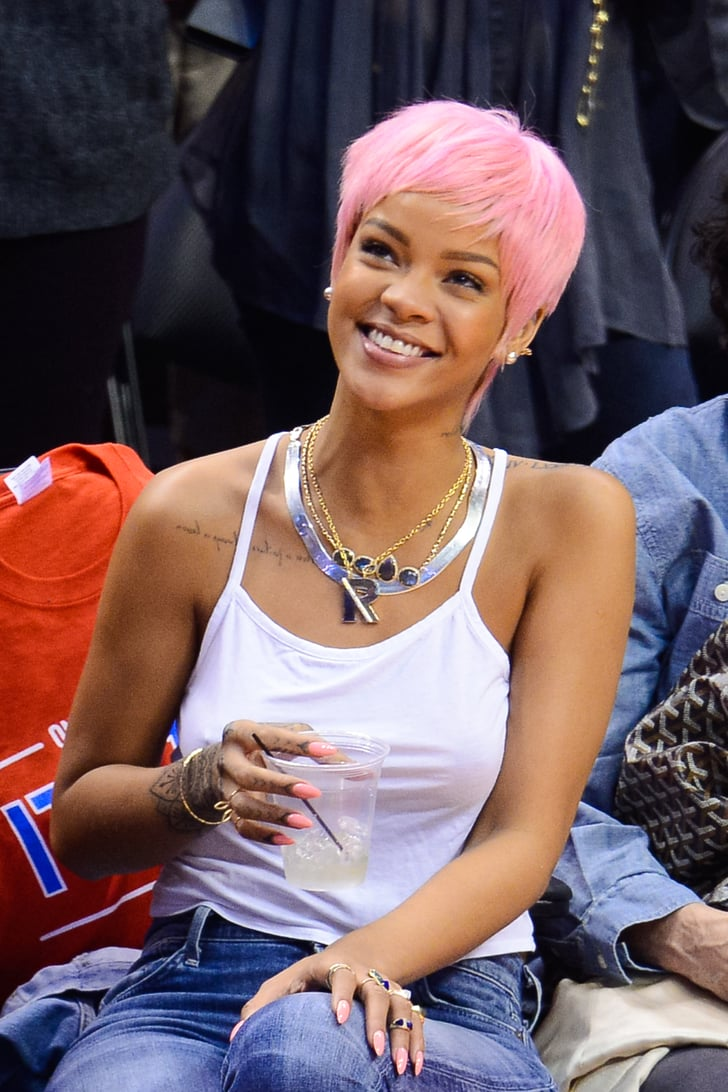 Rihanna Tests Out a Shockingly Bright New Hairstyle
