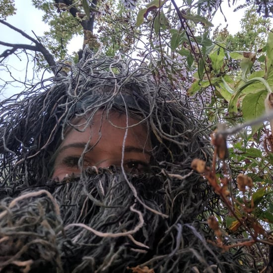 Girl Hides in Bush to Take Photos During Sister's Engagement