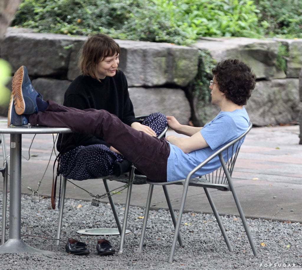 Jesse Eisenberg and Mia Wasikowska got romantic in a Toronto park.