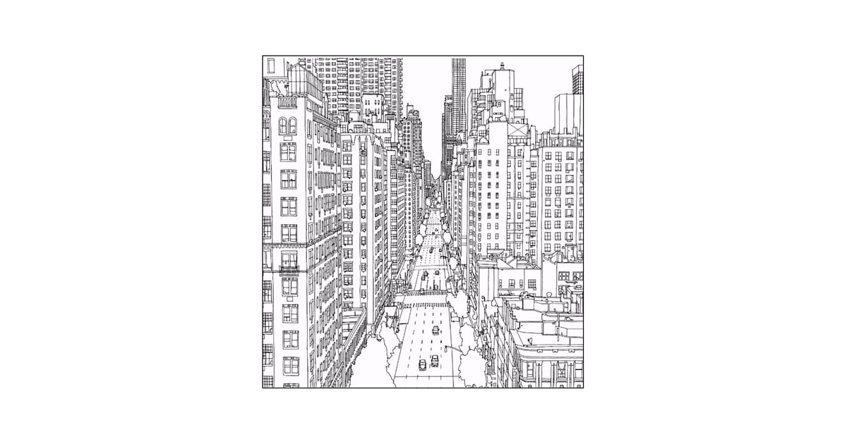 Get The Coloring Page: New York City 50 Printable Adult Coloring Pages  That Will Help You De-Stress POPSUGAR Smart Living Photo 29