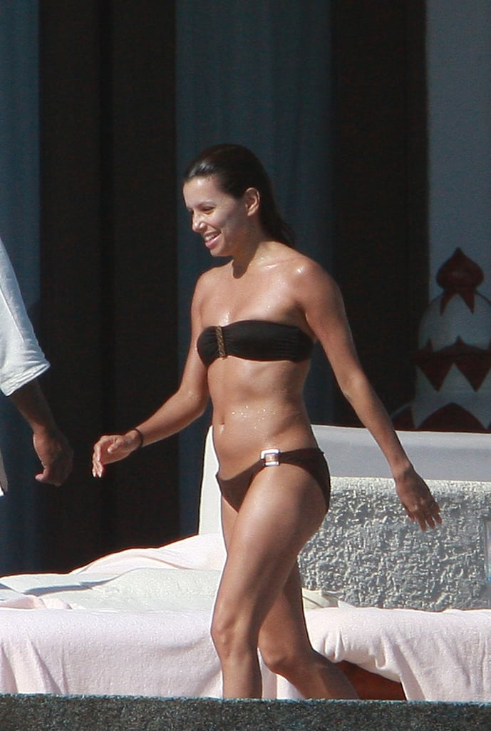 Eva Longoria showed off her bikini body at her Mexican resort in February 2008.