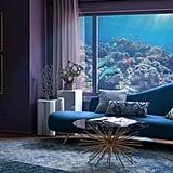 The Little Mermaid-Inspired Midcentury-Style Living Room