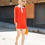 A Bright, Mod Dress With a Collar