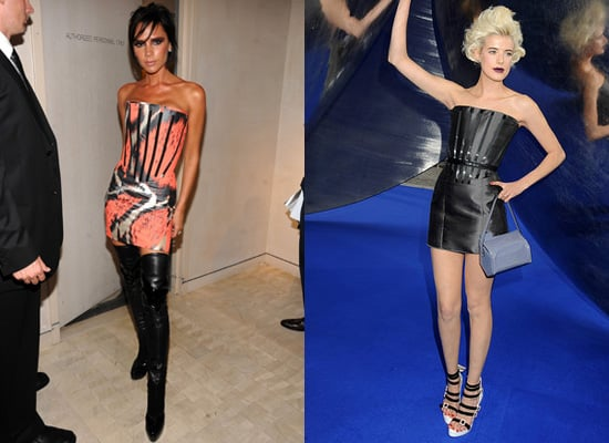 Photos of Victoria Beckham and Agyness Deyn in Giles Dress