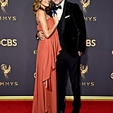 Jeffrey Dean Morgan and Hilarie Burton at the 2017 Emmys