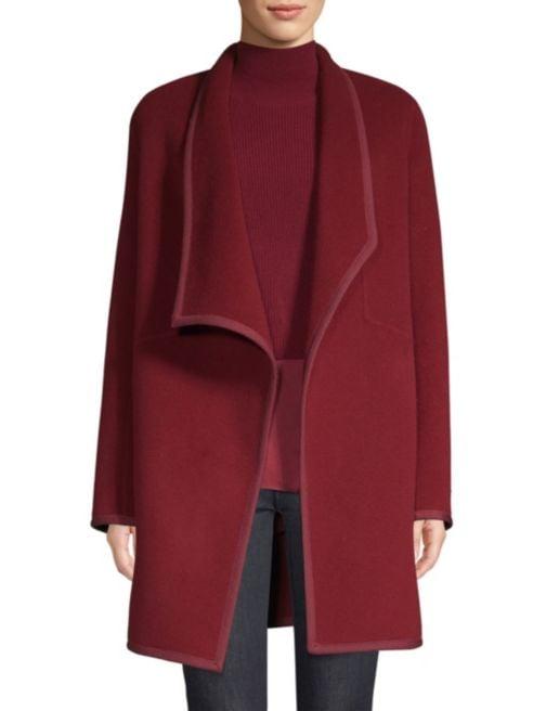 Elie Tahari Wool Car Coat