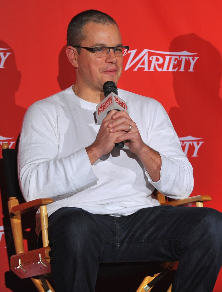 Matt Damon wore glasses in NYC.