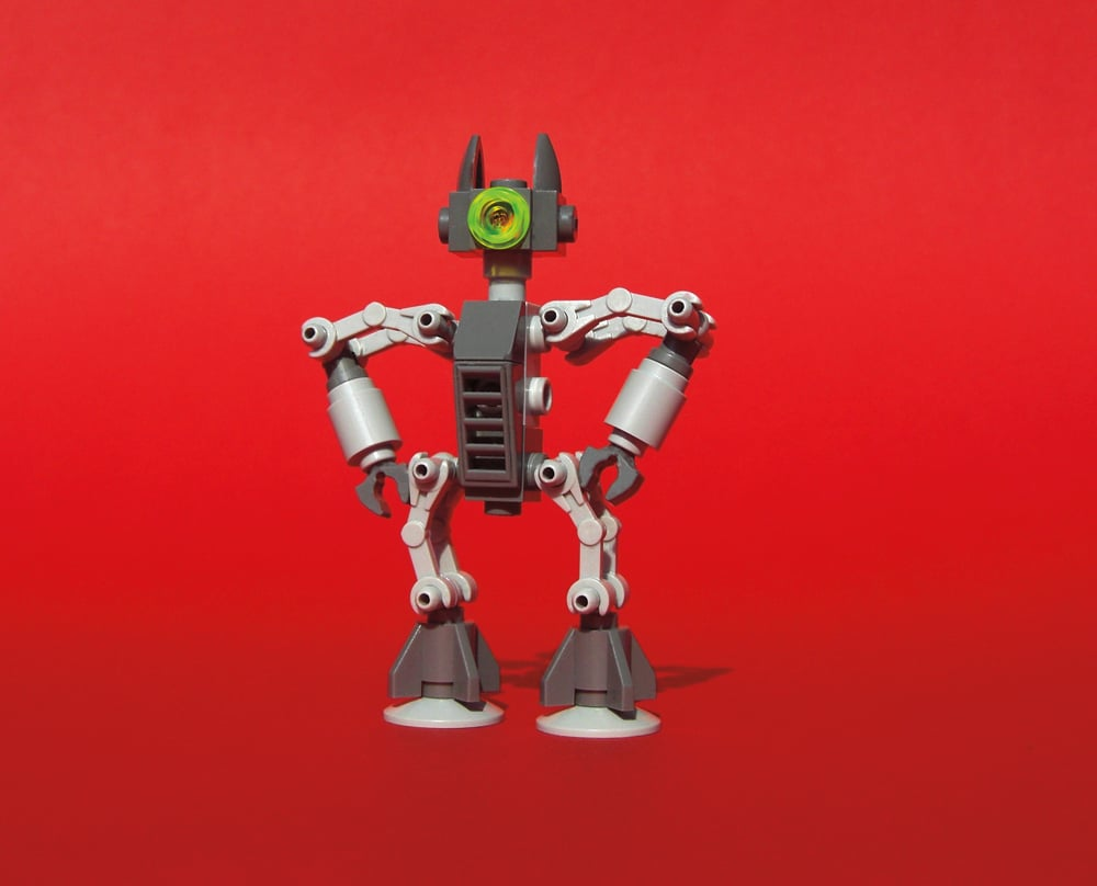 Another of Bodo Elsel's confident robots on display. Source: Robots (series) (2012) © Bodo Elsel