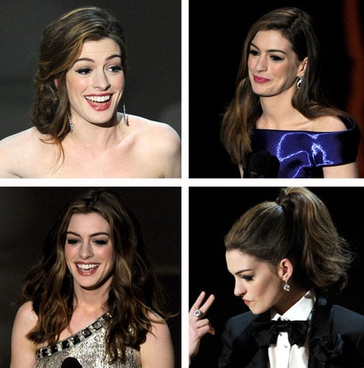 How to Get All Seven of Anne Hathaway\'s Oscars Show Hairstyles ...