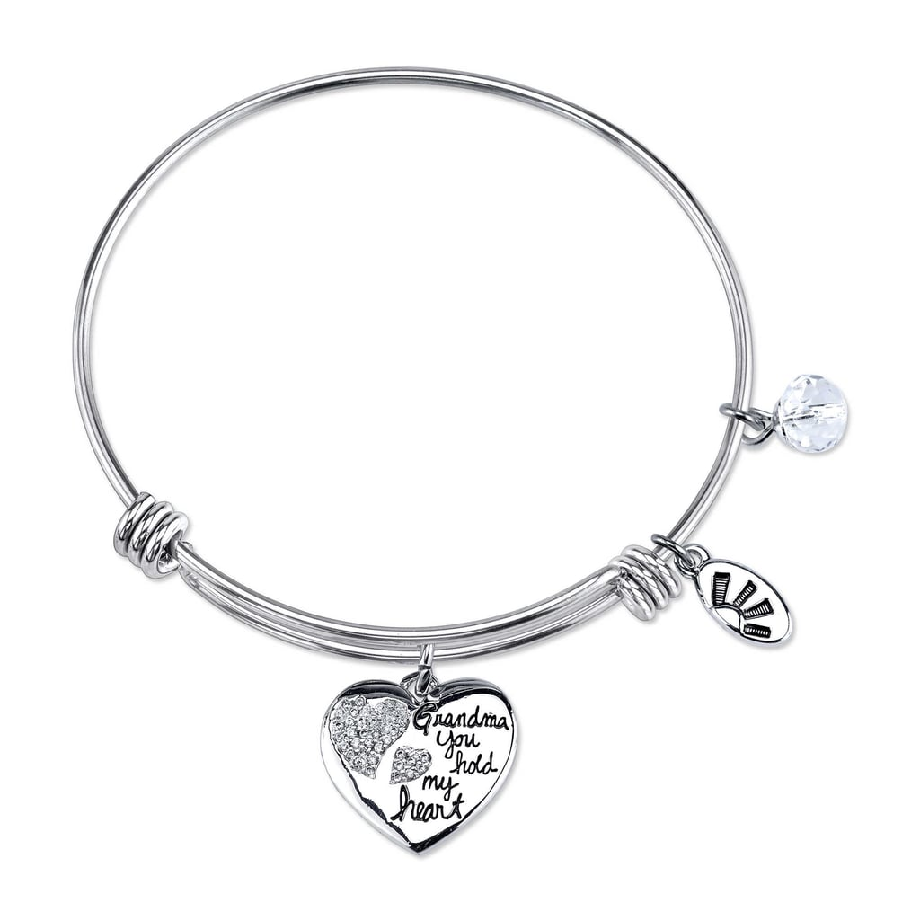 For the Grandma Who Likes Simple Accesories: Grandma Heart Charm Bangle