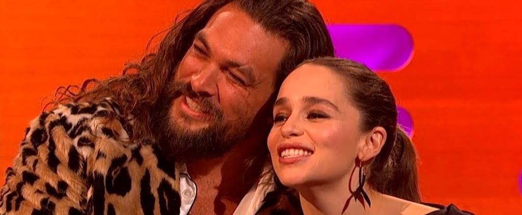 Jason Momoa Always Visits Emilia Clarke in London Video