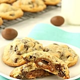 Creme Egg-Stuffed Chocolate Chip Cookies