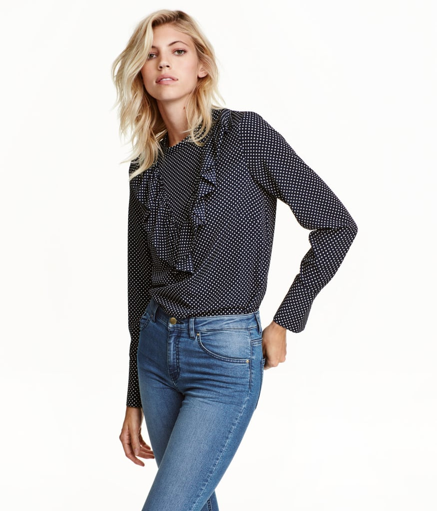 H&M Ruffled Blouse ($25)