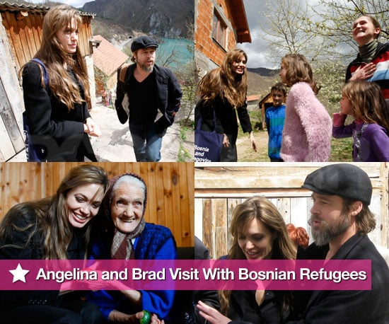 Photos: Angelina and Brad Visit With Bosnian Refugees