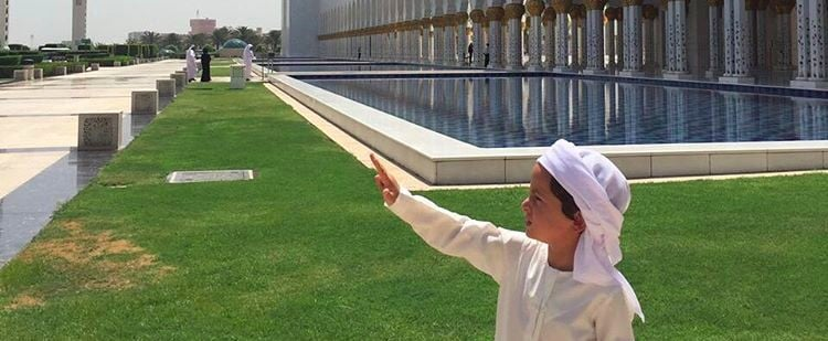 The Sheikh Zayed Grand Mosque Just Got Its Cutest Visitor Yet