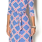 Mahi Gold Geometric Wrap Dress ($188)