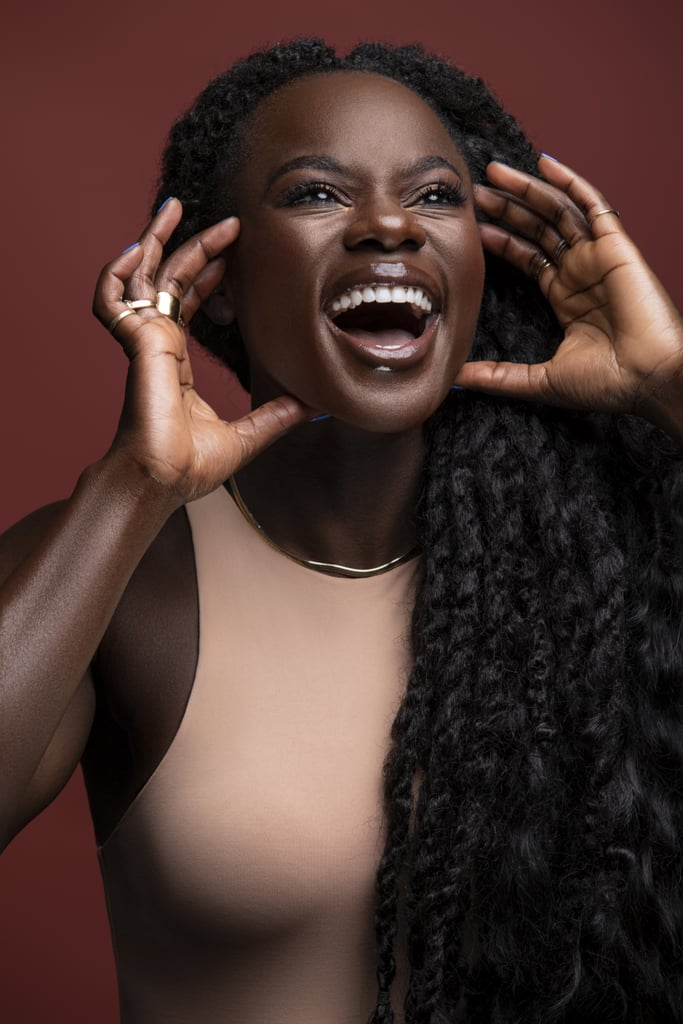 "Even though she found her true calling in fitness, she could never abandon her love for beauty. Oyeneyin tries to incorporate it into her everyday job as much as possible, like by sharing her skin-care routine on her Instagram Story or IGTV. Like any skin-care-lover, she likes to try new things, but she has a few products that never leave her medicine cabinet. Those are the Dr. Dennis Gross Alpha Beta Universal Daily Peel (£18), the Farmacy Green Clean Makeup Removing Cleansing Balm (£24) to double cleanse followed by the Caudalie Vinopure Pore Purifying Gel Cleanser (£16), EleVen by Venus Williams Unrivaled Sun Serum SPF 35 (£36), Malin + Goet Recovery Treatment Oil (£68), and last but not least, SkinCeuticals Resveratrol B E (£135). ""Girlfriend, I feel like you'd use that product for three days, and you just feel like you get a second skin, new and fresh and ready to go — I love it so much,"" Oyeneyin said of the serum. The makeup routine she follows when she's teaching is just as serious as her skin-care regimen — but only if she's on-camera. ""I make the joke I'm not at home riding this bike with a full face of makeup on,"" she said. Her essentials for those on-camera sweat sessions are the ColorStay Makeup For Combo/Oily Skin (£13), NARS Exhibit A Blush (£25), which she also uses in the crease of her eyes, and the Revlon So Fierce Big Bad Lash Mascara (£10). The key to getting her products to stay, even during those extra sweaty rides, is simple — she relies on waterproof everything.  The most eye-catching part of her entire makeup routine is always her lipstick, but unfortunately, she can't tell you what brand it is because it simply doesn't exist. ""People are always asking me, right? Here's the thing: I use 17. . . so many different products on my lip to really get the end look that I want,"" Oyeneyin said. ""But I am working on something that hopefully, one day, will be the answer to all of my lip solutions, and I'll be able to give one product instead of the 17 that I mix together."" We'll just be here, patiently waiting for that day to come."
