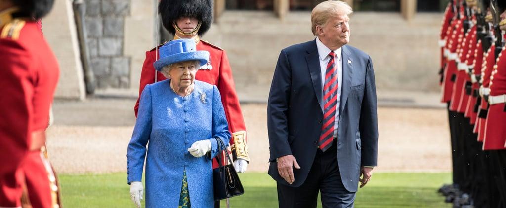 Queen Elizabeth and Trump Walking Around Windsor Castle 2018