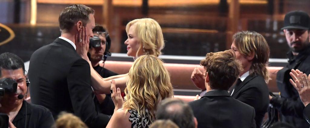 Nicole Kidman Kissing Alexander Skarsgård at the 2017 Emmys
