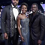 Pictured: Lupita Nyong'o, Daniel Kaluuya, and Winston Duke