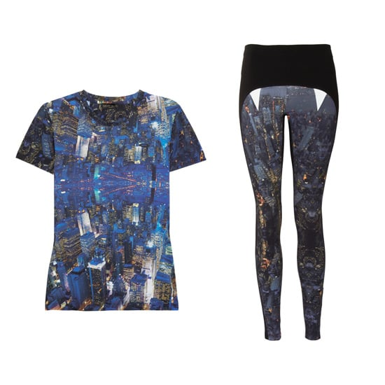 This Lucas Hugh performance printed stretch t-shirt ($195) and matching Lexington printed stretch leggings ($355) are the ultimate splurge. How awesome is the moody galactic print?