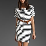 Add a white blazer to this one — et voila! — it goes right to the office.  BB Dakota Dora Stripe Dress ($49)