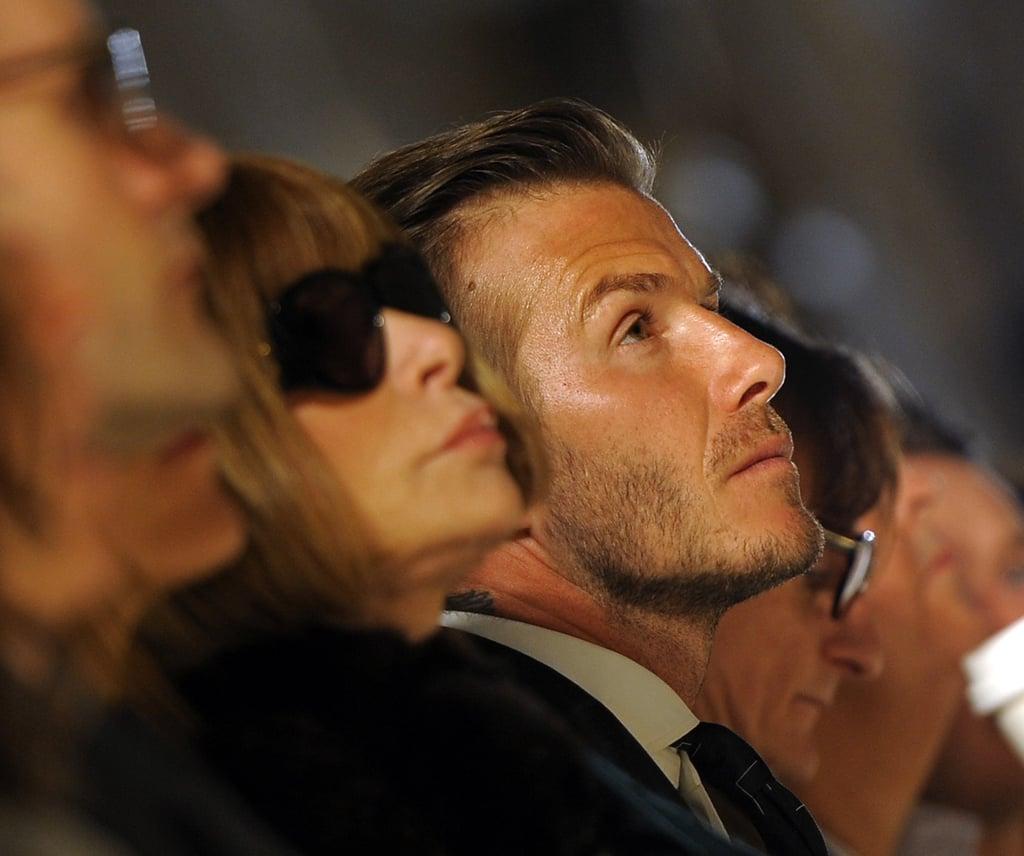 David Beckham went to NYFW.