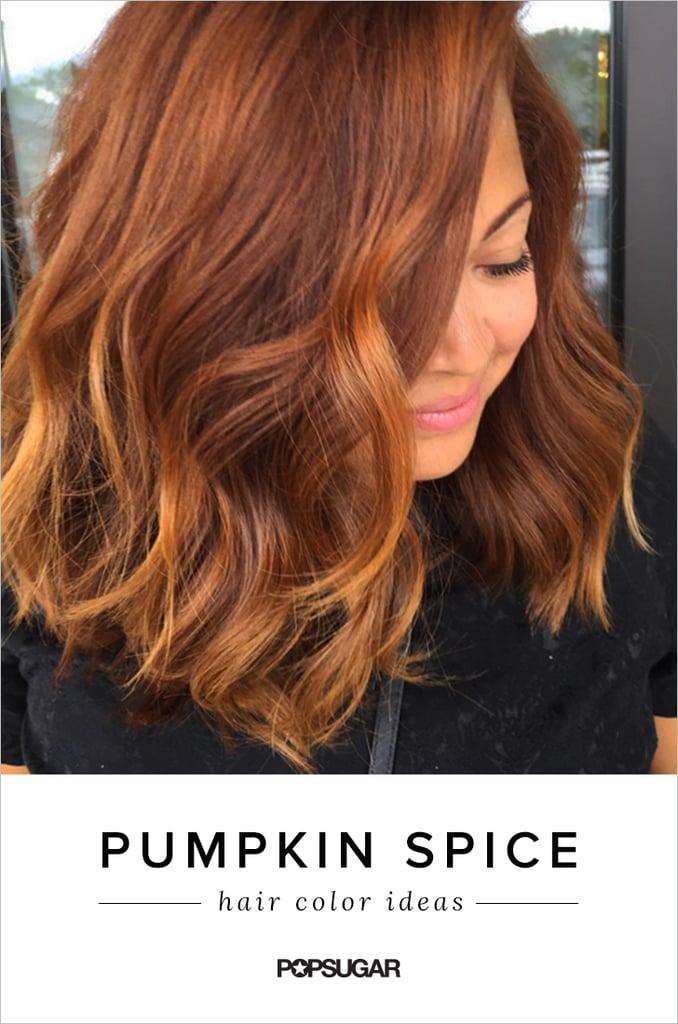Pumpkin Spice Hair Color Trend Popsugar Beauty