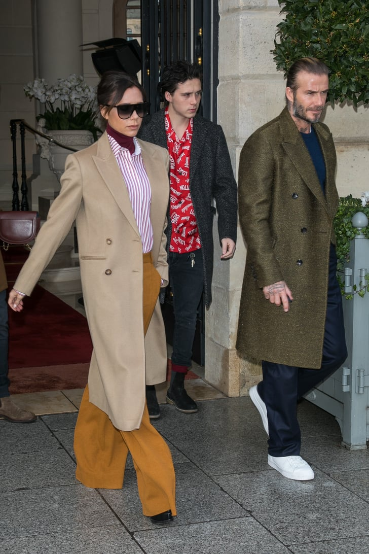The Beckham Family At Paris Fashion Week 2018 Popsugar