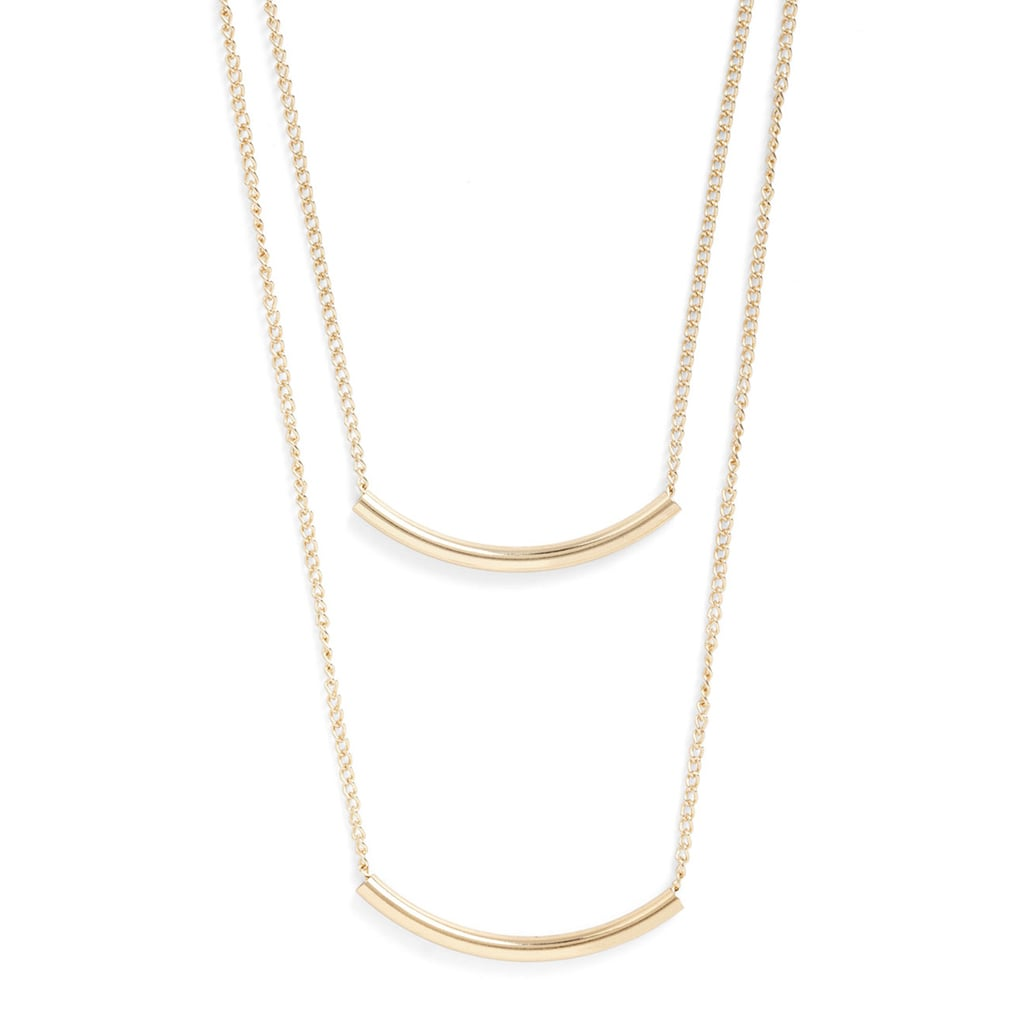 This Modcloth necklace set ($14) is so beautiful, we have a feeling it will be the envy of the entire swap.