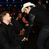 Justin chatted with country crooner Brad Paisley.