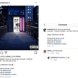 In case you didn't know, Hirsch is also a singer and shared his newest single release on Valentine's Day. Herbert showed her support in the comments where Emile replied with a kiss. Too cute.  That's a relationship in my book.
