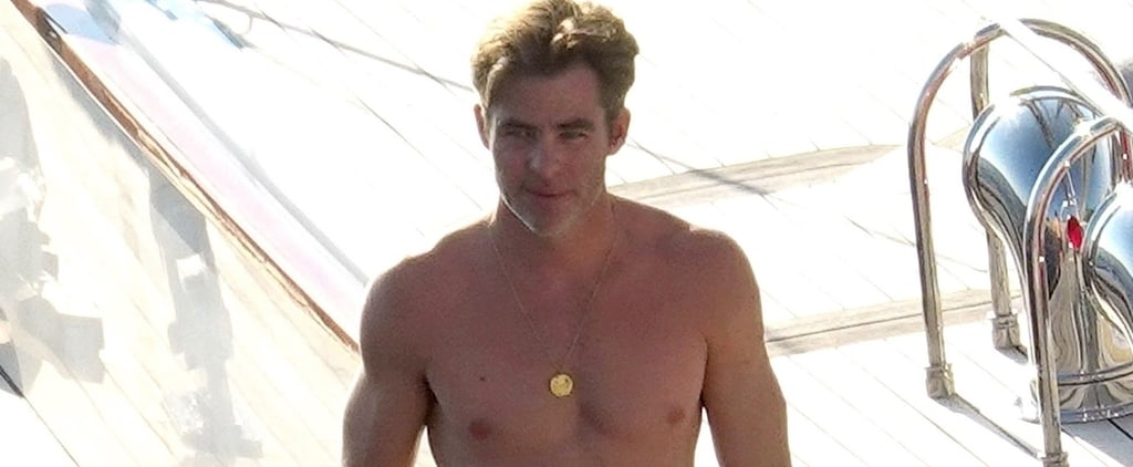 Chris Pine Shirtless in Italy Pictures August 2018