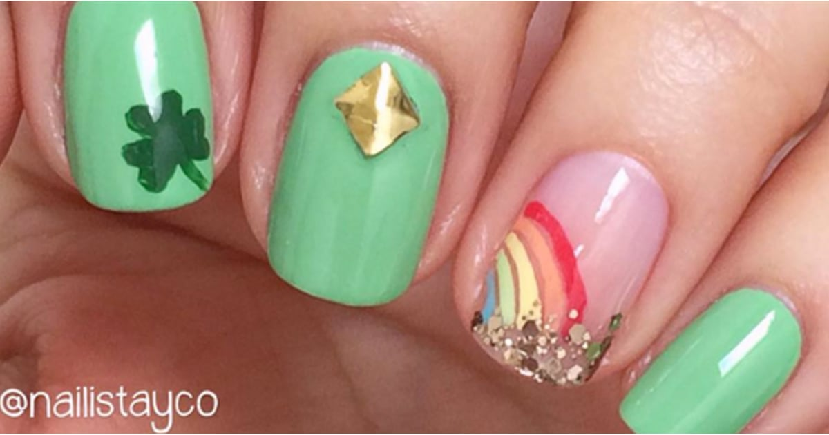 Best St. Patrick\'s Day Nail Art From Instagram | POPSUGAR Beauty