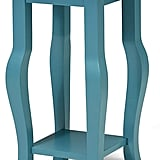 Kate and Laurel Lillian Wood Pedestal End Table Curved Legs With Shelf
