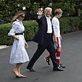She Styled It With a Leather Michael Kors Belt