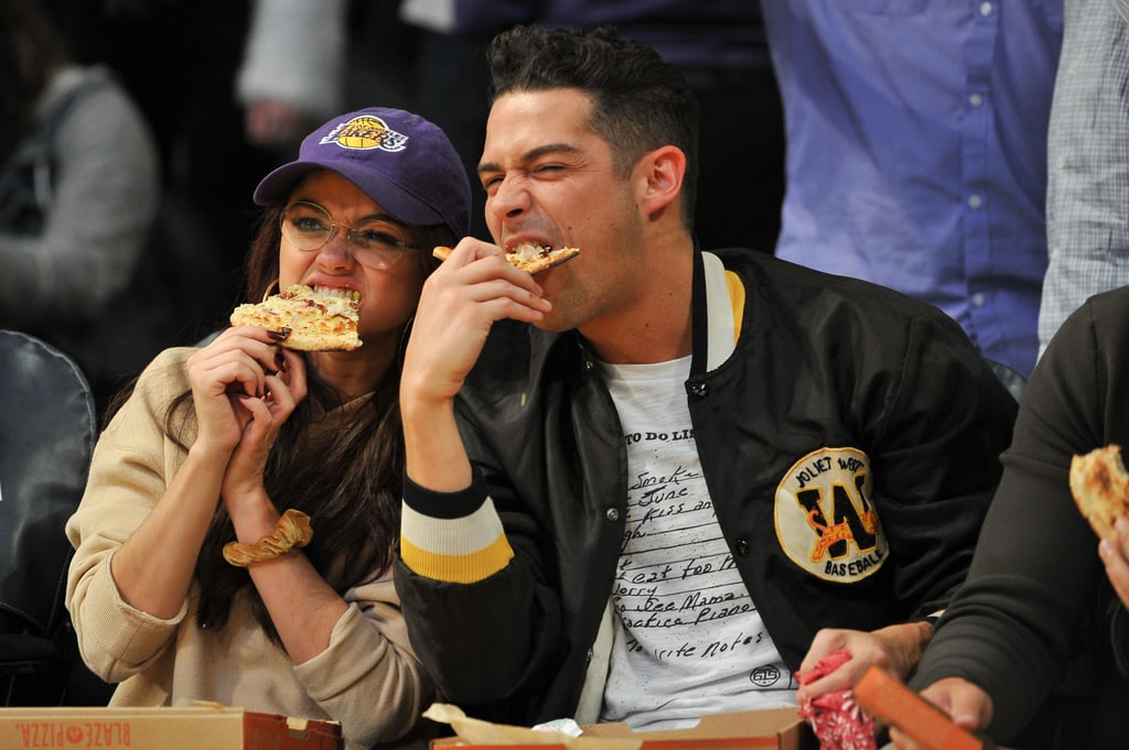 They Devoured Courtside Pizza at a Lakers Game Together . . .
