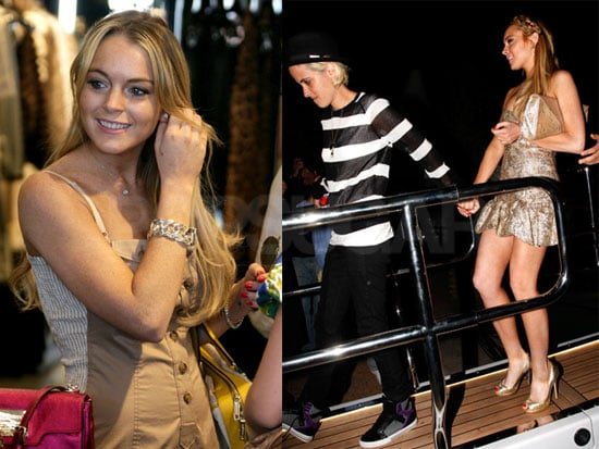 Lindsay Lohan And Samantha Ronson in Cannes